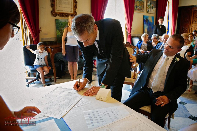 firma del registro matrimonio civile villa Cambiaso Arenzano