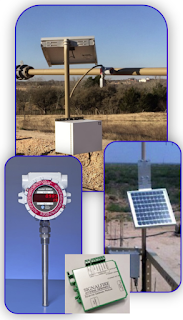 remote flare gas flow monitoring