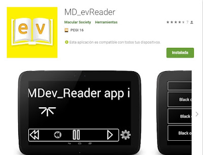 Aplicación MD_evReader en Google Play