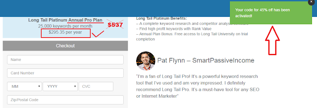 Long tail pro discount coupon codes