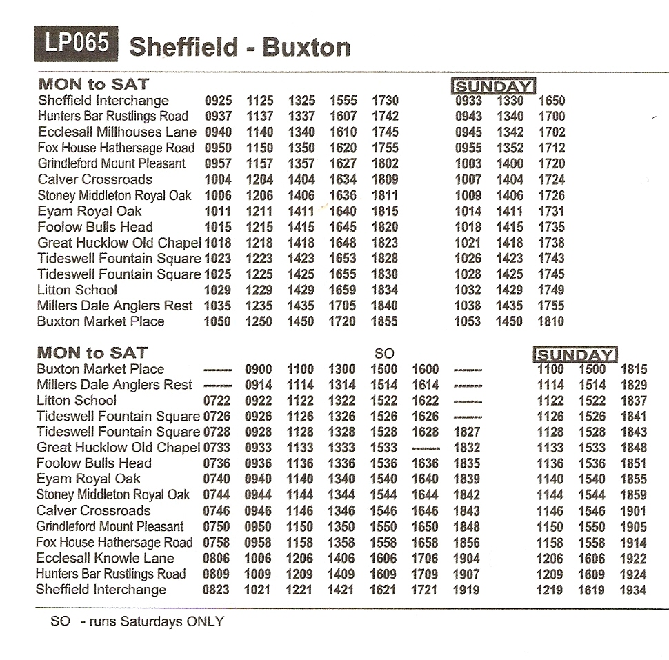 Walking The Peak New Bus Timetables