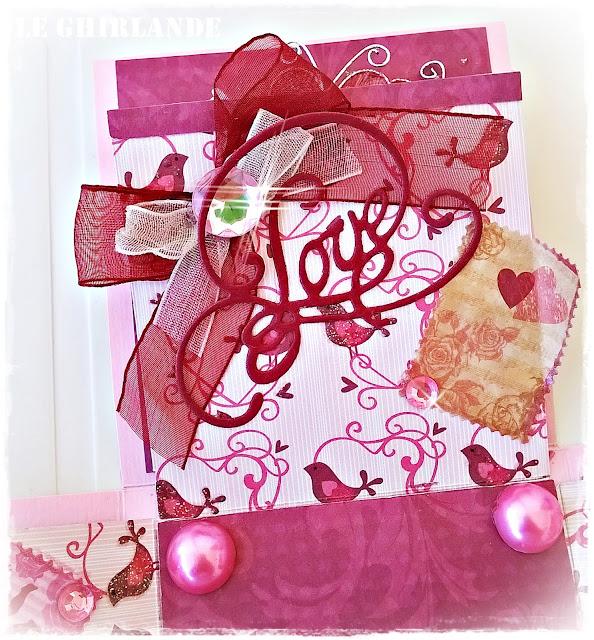 Explosion Box colore Rosa e bordò