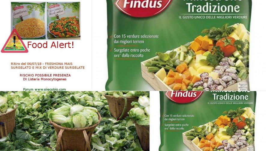 Lo Scandalo delle Verdure Surgelate Contaminate da Listeria è mondiale.