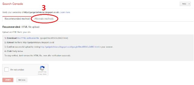 cara submit di webmaster google