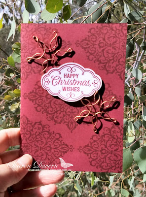 Flourish Filigree, Rhapsody in craft, Christmas card, DIY Card, Heart of Christmas