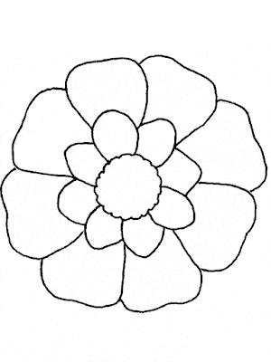 Gambar Mewarnai Bunga - 11