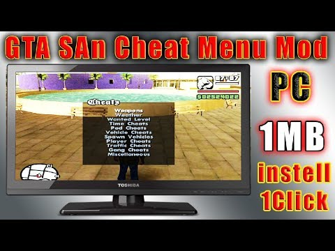 GTA San Andrea Cheat Menu Mod for PC