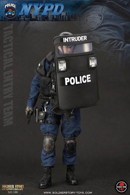 "osw.zone Soldier Story 1/6. NYPD ESU ""TACTICAL ENTRANCE TEAM"" 12 inch action figure preview"