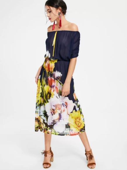 Vestidos Florales - Zaful - Almamodaaldia