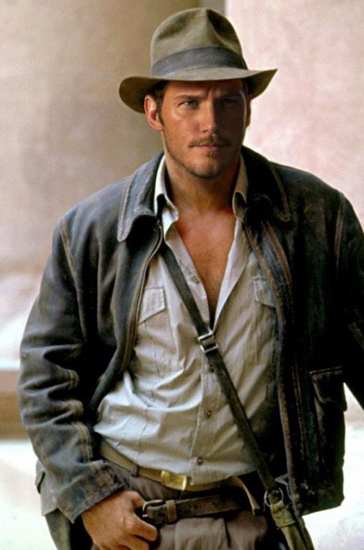 Chris Pratt în rolul Indiana Jones (fan made)