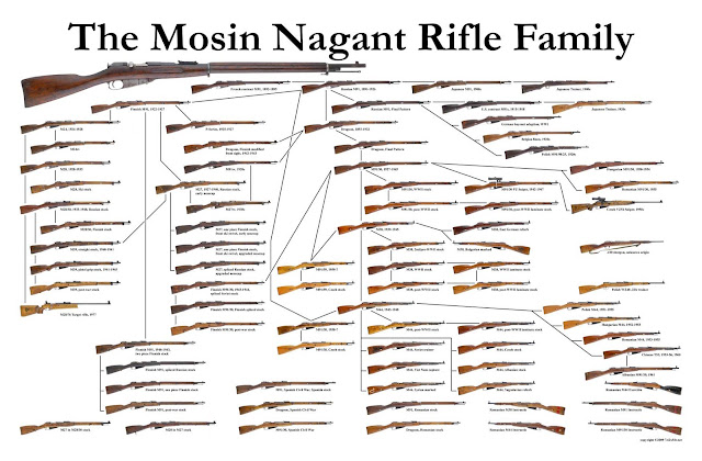 All Mosin Nagant Rifle Types Picture