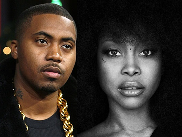 """Nas performs """"This Bitter Land"""" with Erykah Badu on Jimmy Kimmel LIVE and explains why his album is taking so long"""