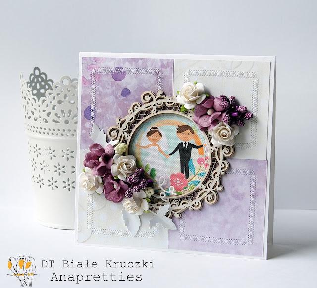 ślub w fioletach