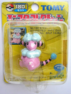 Flaaffy Pokemon figure Tomy Monster Collection yellow package series