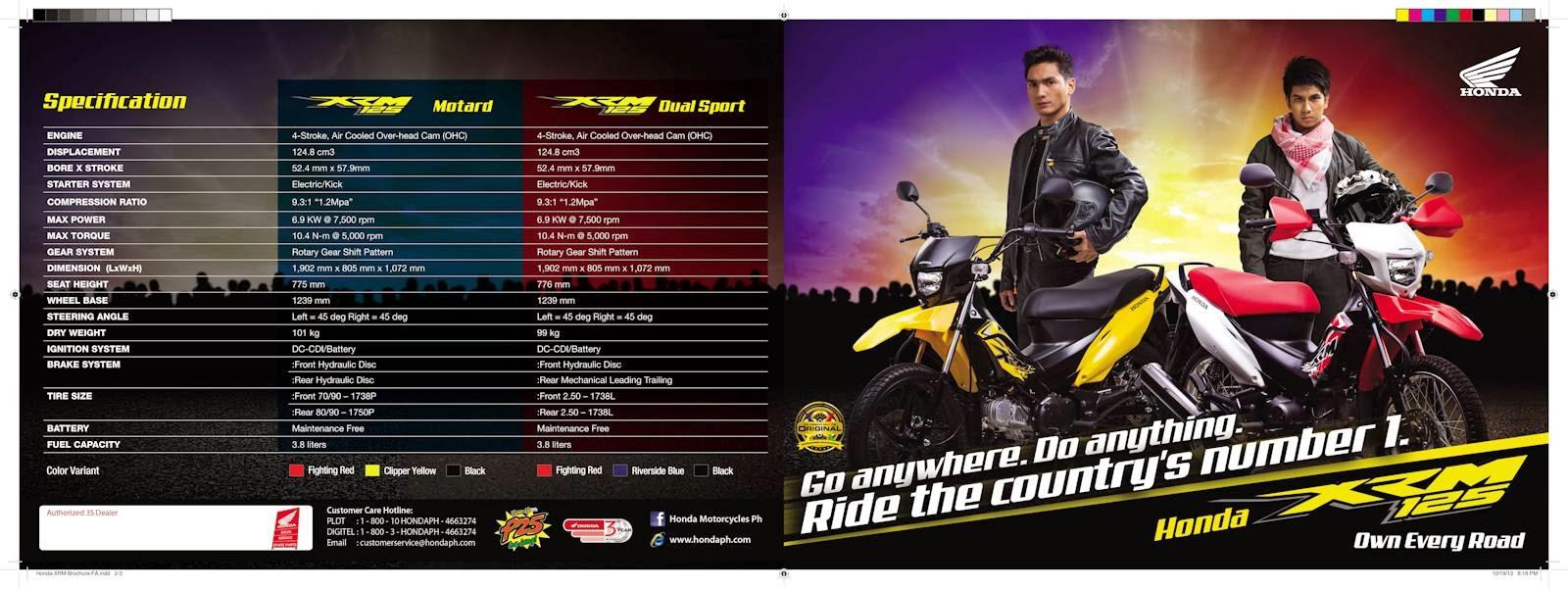 Honda Philippines Launches XRM 125 Motorcycle (w/ Brochure ... for Honda Motorcycle Xrm 125 Price List  153tgx