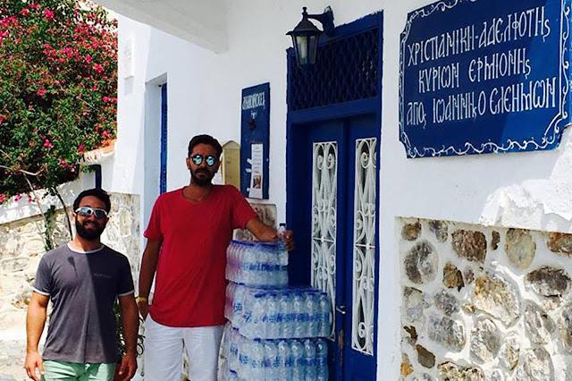 """Μπουκάλια νερού και χυμούς πρόσφερε ο Πολιτιστικός Σύλλογος Ερμιόνης """"Βιτόριζα"""""""