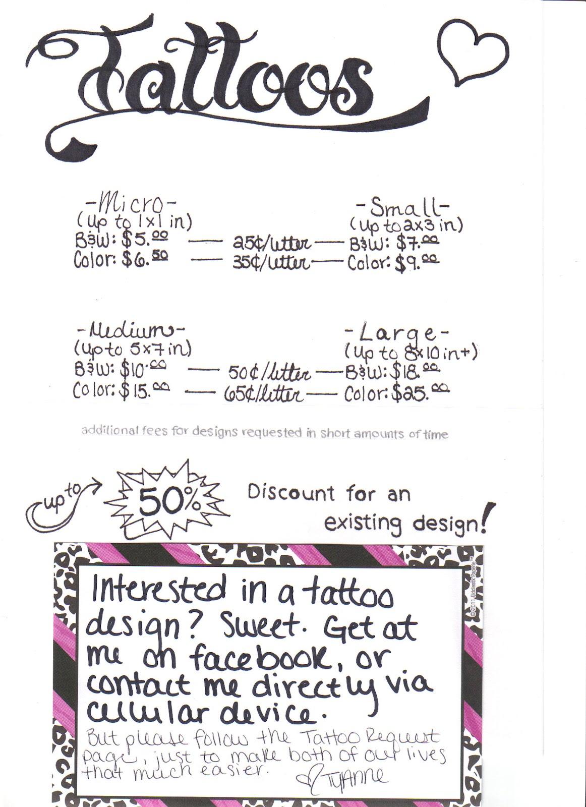 Tattoo Prices