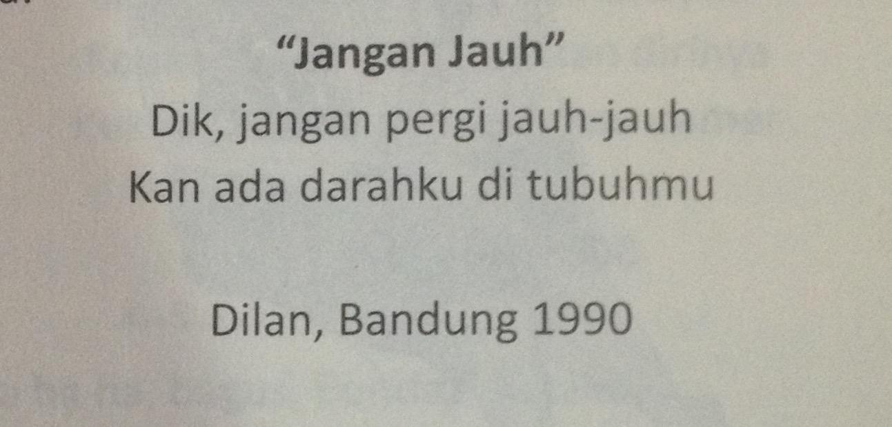 Quote Dilan Dia Adalah Dilanku Tahun 1990