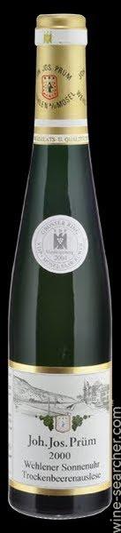 Joh. Jos. Prum Wehlener Sonnenuhr Riesling Trockenbeerenauslese adalah wine paling mahal di dunia