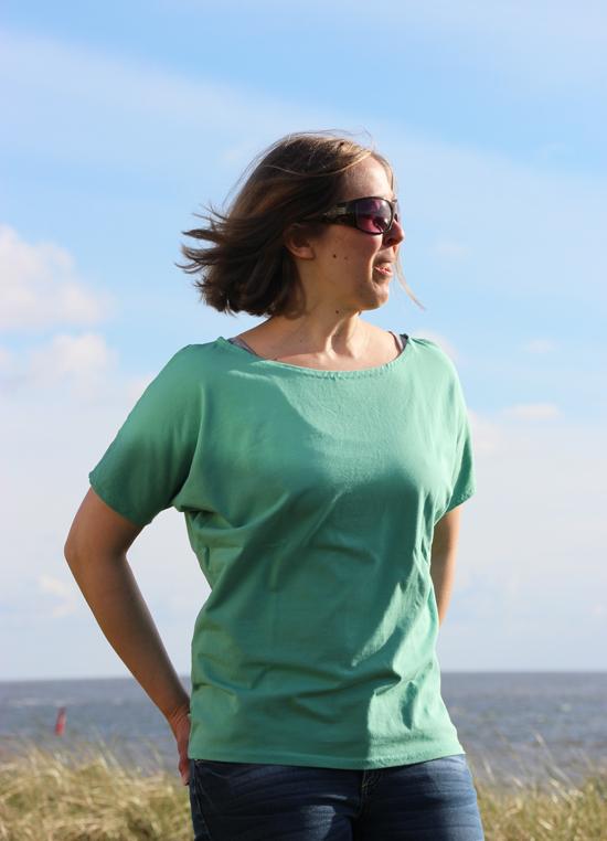 binedoro blog, Norderney, nähen, FrauEdda, Shirt, Meer, Nordsee