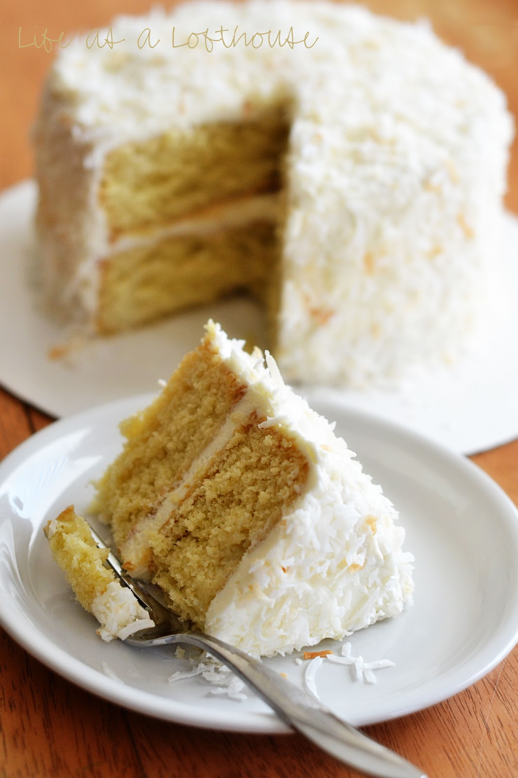 Coconut Cream Cake With Cream Cheese Frosting