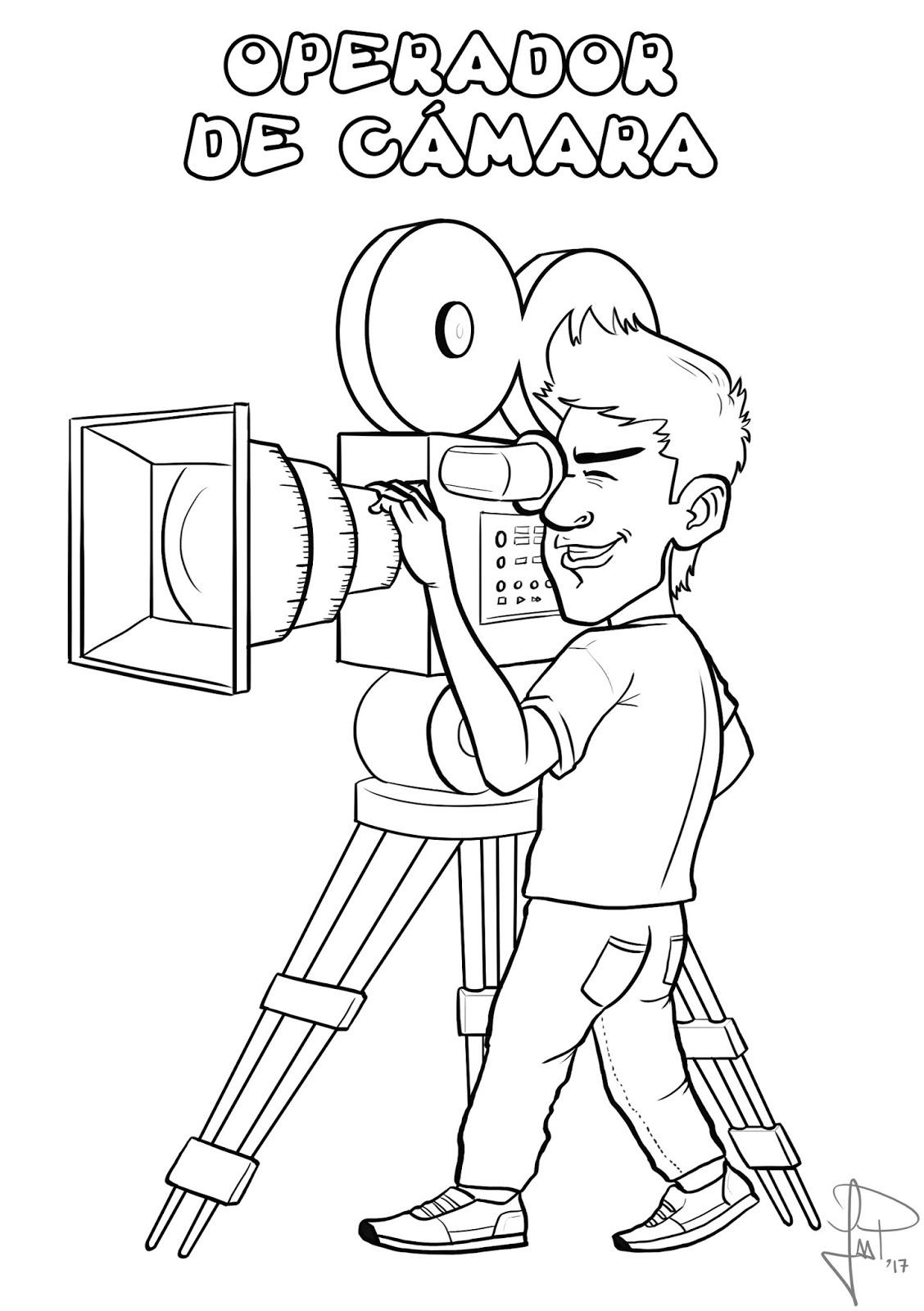 dibujos sobre cine para colorear