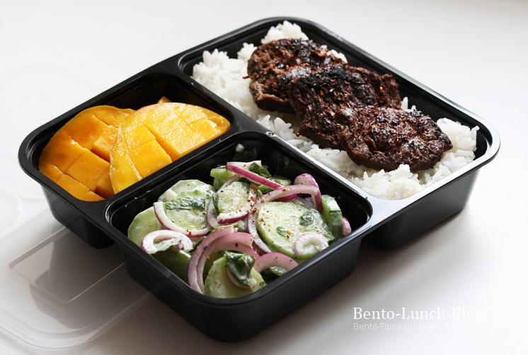 bento lunch blog bento 170 vegetarisches gyros gurkensalat reis und mango. Black Bedroom Furniture Sets. Home Design Ideas
