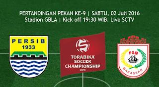 Susunan Pemain Persib Bandung vs PSM Makassar