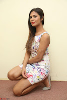 Nishi Ganda stunning cute in Flower Print short dress at Tick Tack Movie Press Meet March 2017 083.JPG