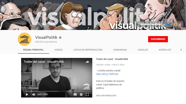 Visualpolitik - Canales de Youtube para emprendedores