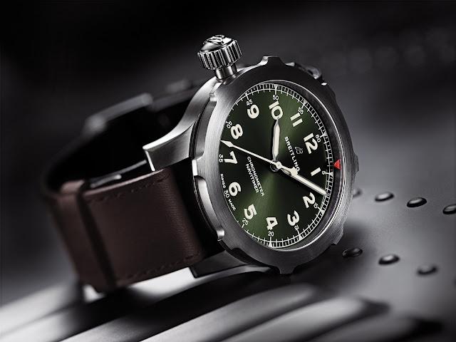 Breitling Navitimer Super 8  - 46mm Titanium Case, Green Dial