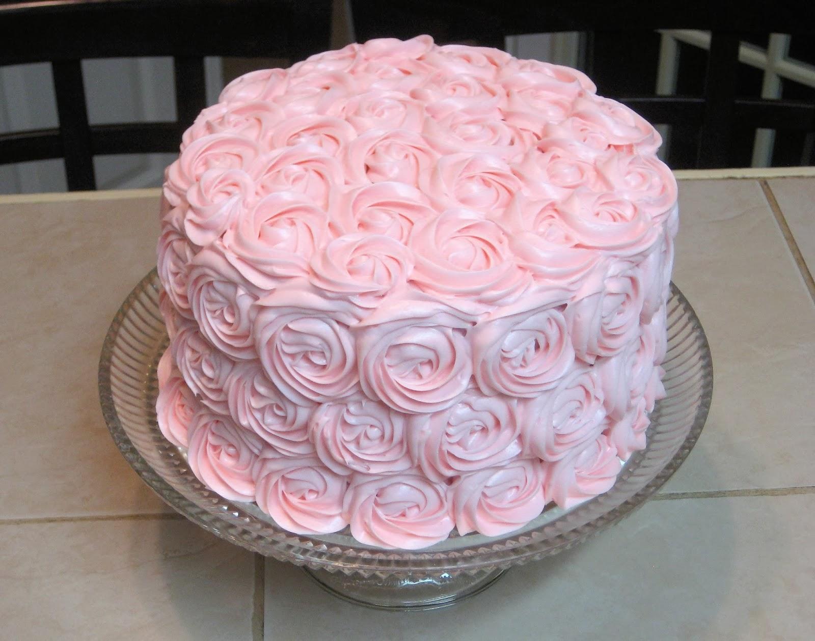 Pink Rose Cake Decorations