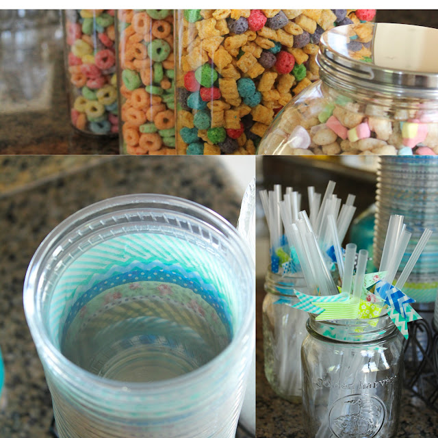 washi tape flags and cereal bar