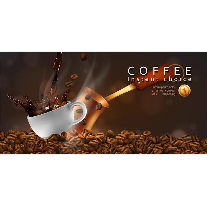 Coffee advertising design free vector