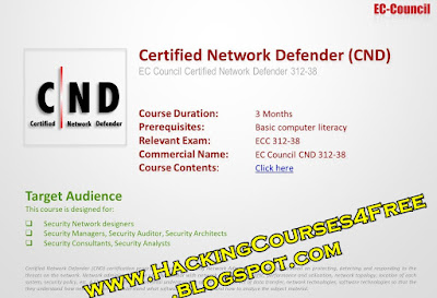 Download Ec council Certified Network Defender for free