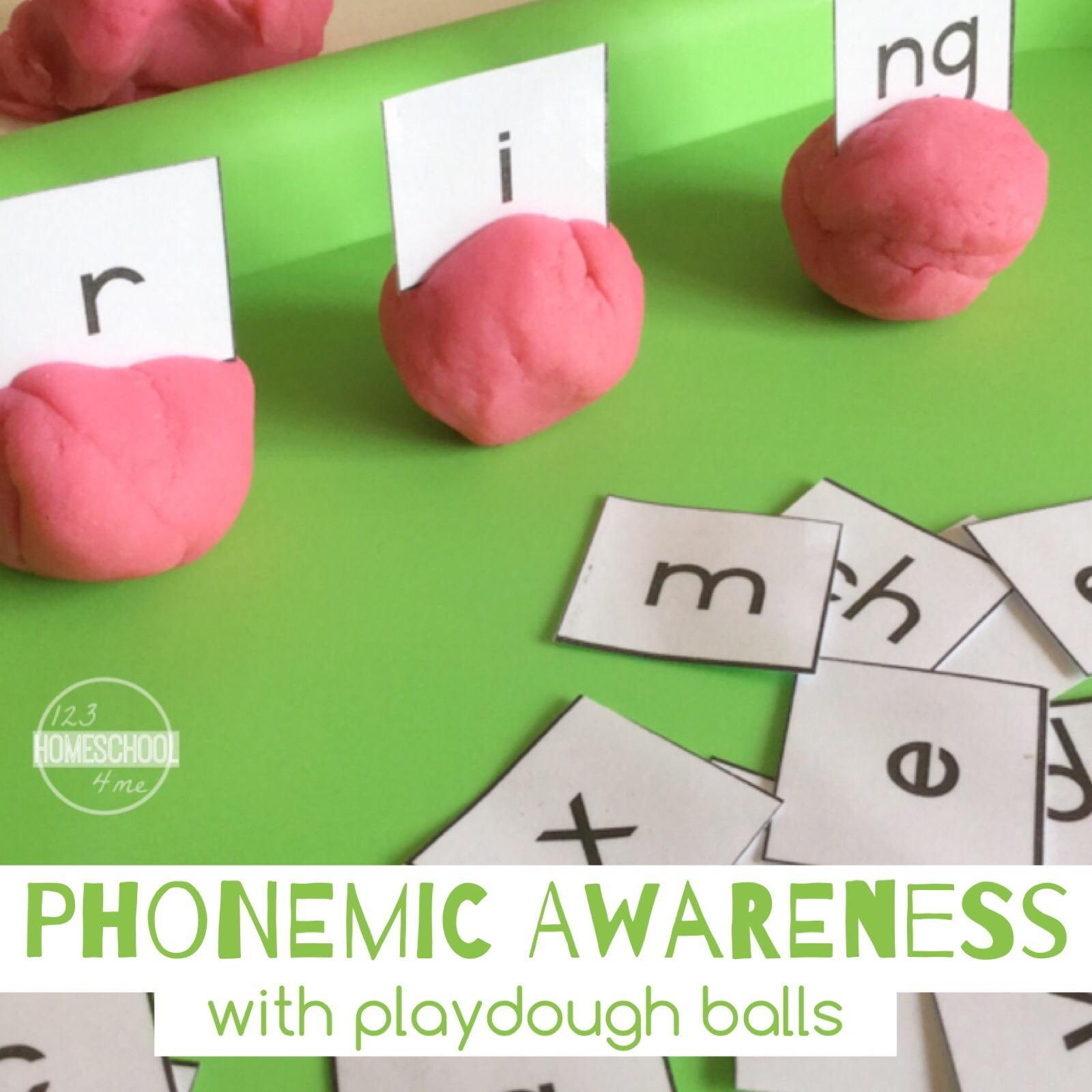 Worksheet Preschool Phonemic Awareness Activities phonemic awareness with playdough balls make learning fun this kids activity