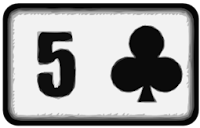 five of clubs playing card