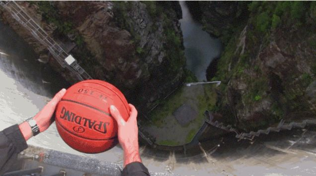 The Magnus Effect Is Why a Ball With a Bit of Backspin Goes Like This When Dropped..