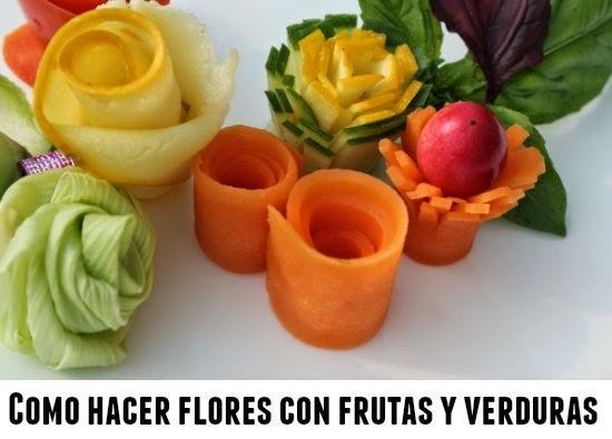 Enrhedando manualidades for Decoracion con verduras