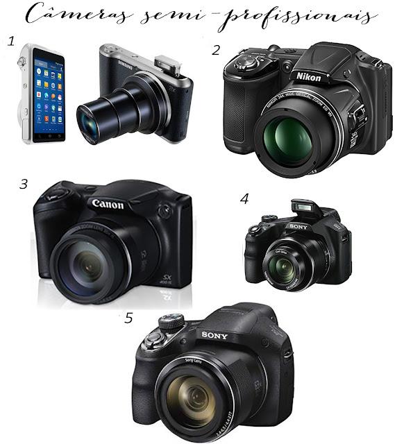 Câmeras semi-profissionais baratas