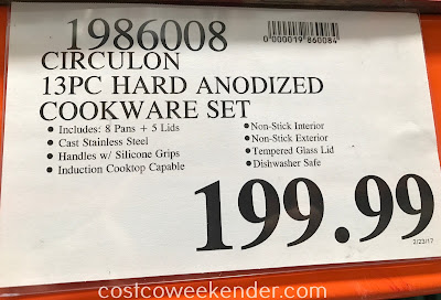 Deal for the Circulon 13-piece Hard Anodized Cookware Set at Costco