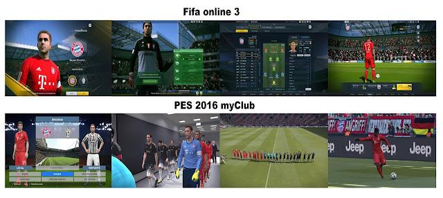 imagenes de pes 2616 my club vs fifa online 3