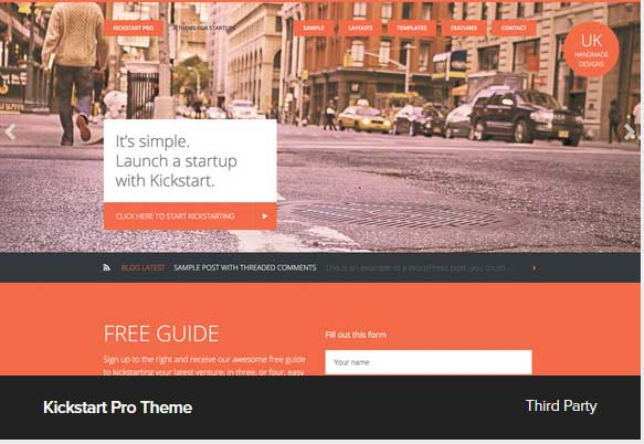 Kickstart Pro Theme Award Winning Pro Themes for Wordpress Blog : Award Winning Blog