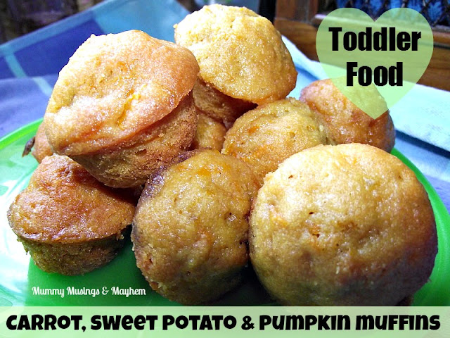 Toddler Food - Carrot, Pumpkin & Sweet Potato Muffins!
