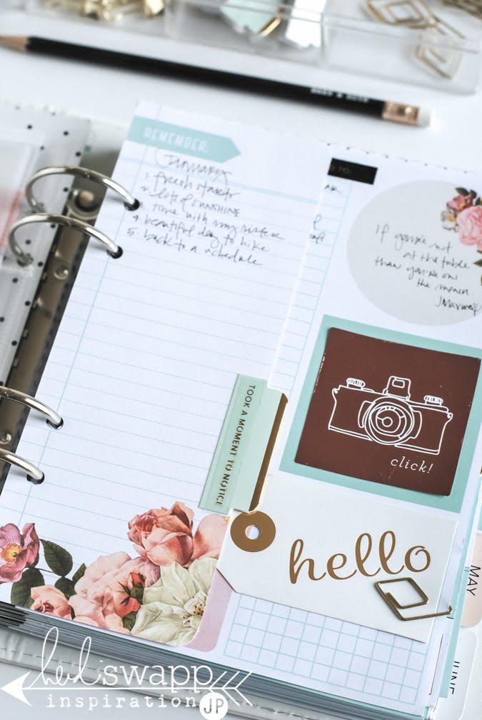 Brand new 2016 Heidi Swapp Memory Planner | @jamiepate for @heidiswapp