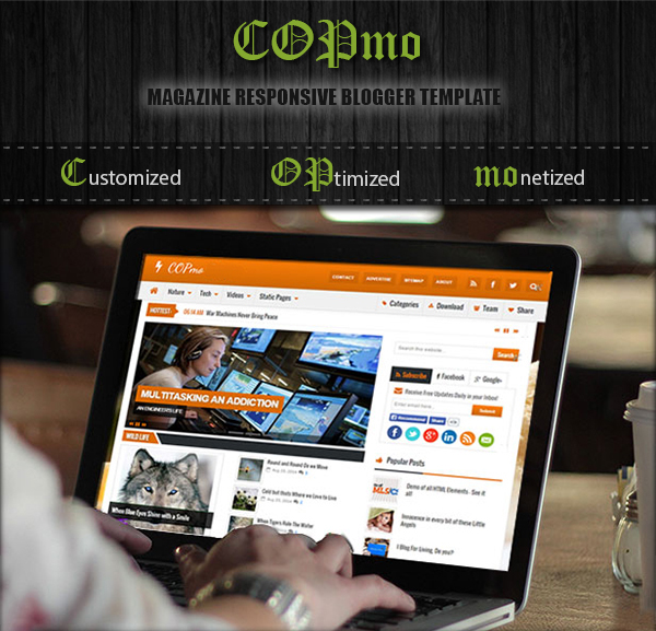 COPmo - Best Responsive Blogger Template!