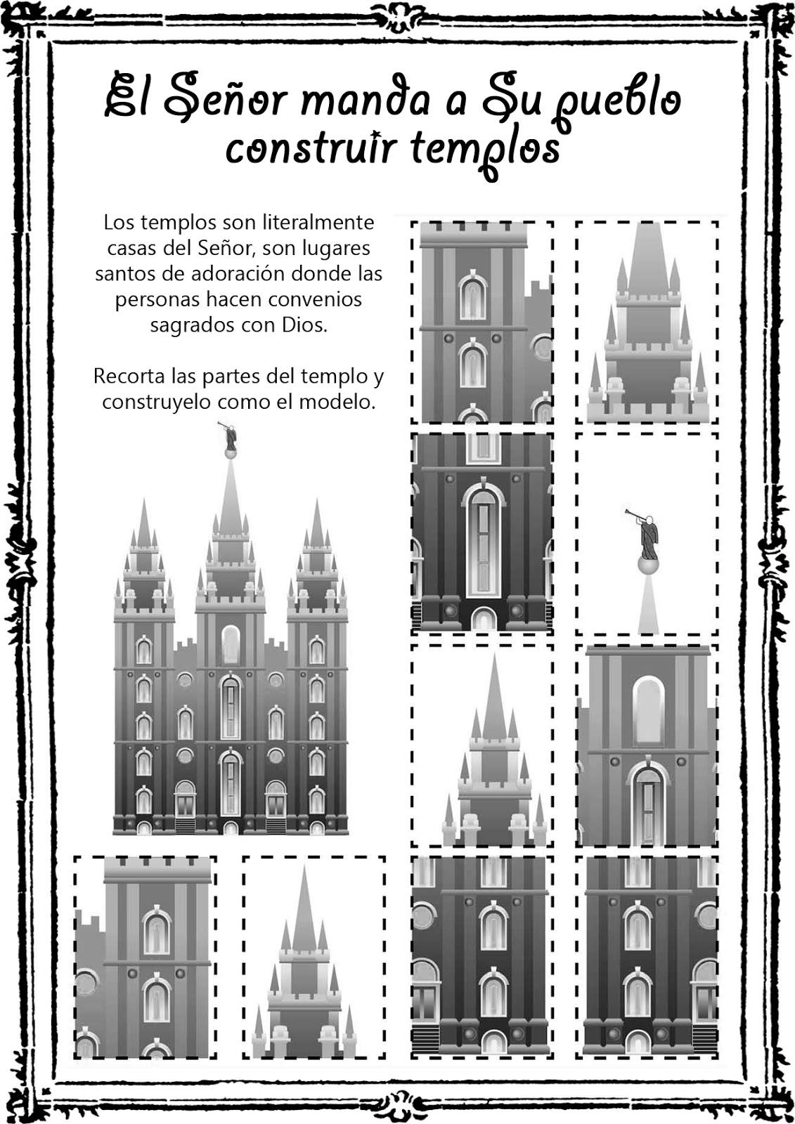 Hoy les comparto Hojas de actividades sobre el Templo!