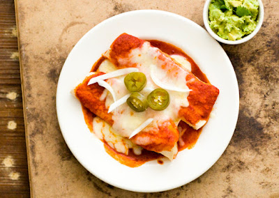 Red chile cheese enchiladas | Homesick Texan