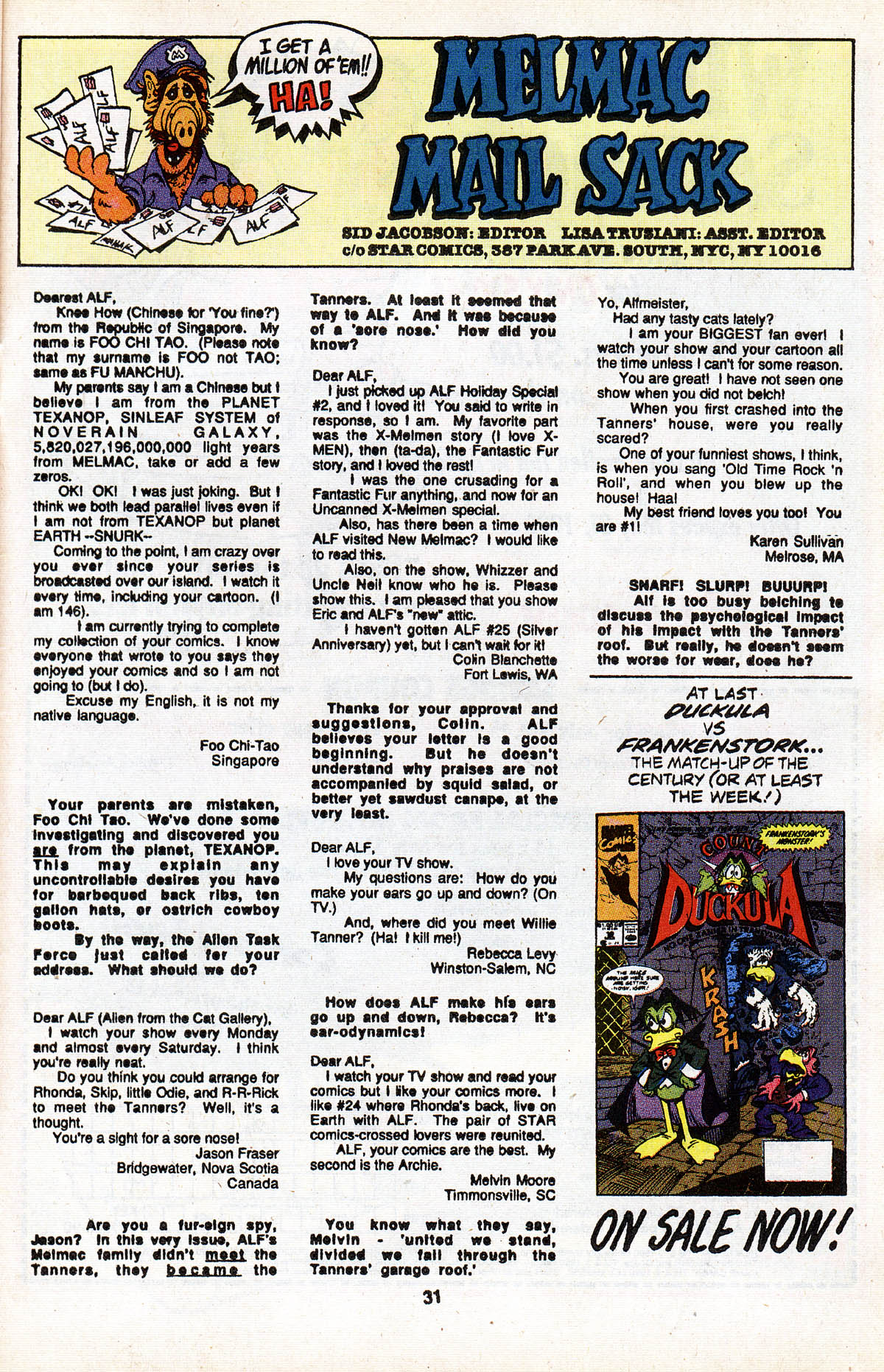 Read online ALF comic -  Issue #28 - 33
