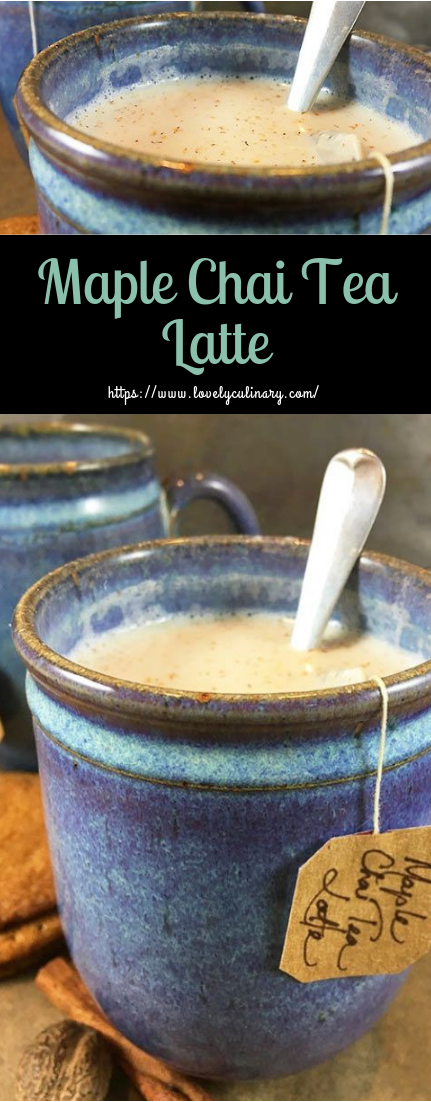 Maple Chai Tea Latte #hotdrinks #recipewinter